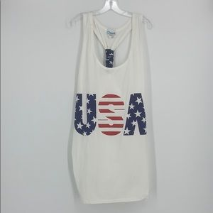 USA Red, White & Blue Swim Suit Cover Up Size L/XL